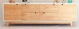 Mẫu kệ tivi gỗ Cao su - VKT 7